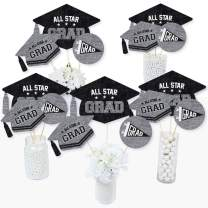 Big Dot of Happiness All Star Grad - Graduation Party Centerpiece Sticks - Table Toppers - Set of 15
