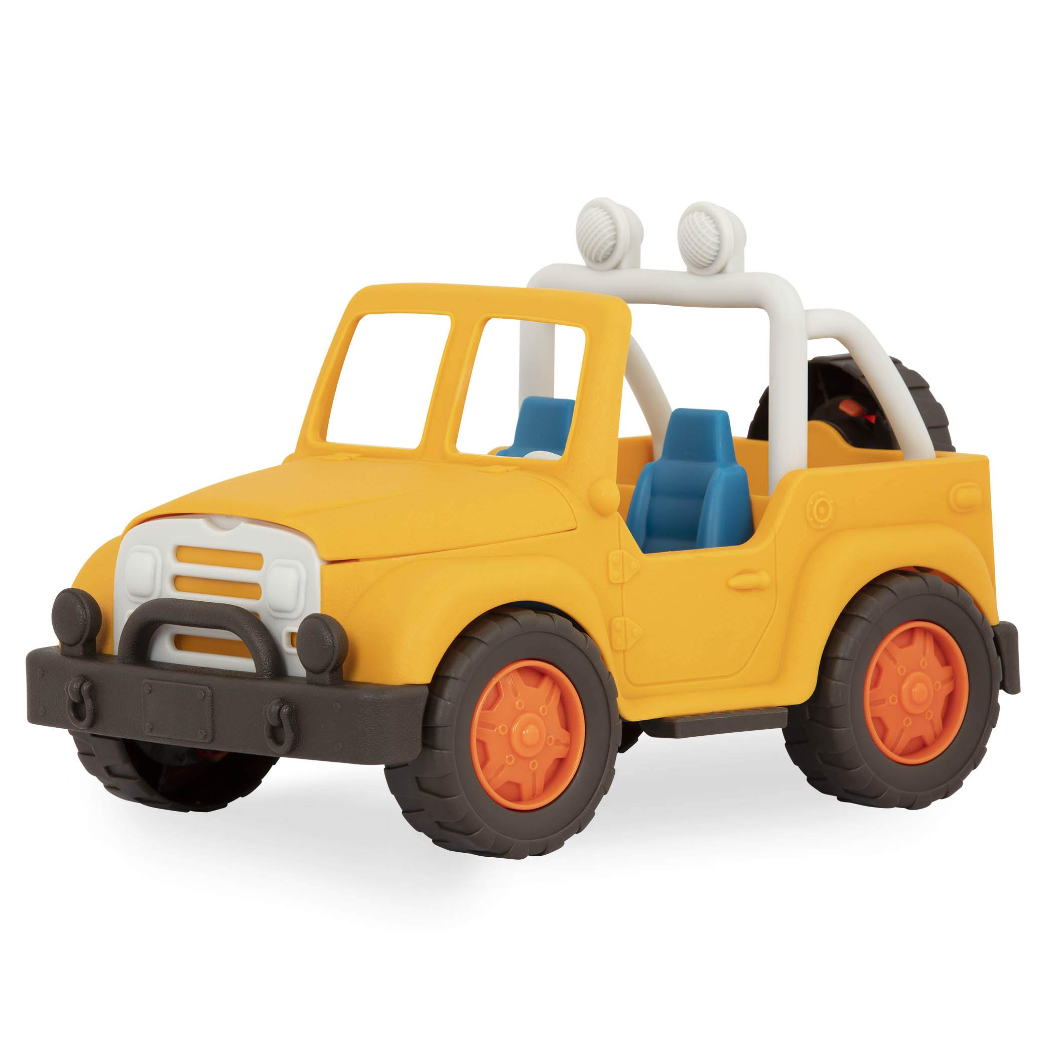 Wonder Wheels by Battat – 4 X 4 – Yellow Off-Road Toy Truck with Spare Tire for Toddlers Age 1 & Up – 100% Recyclable, VE1013Z, Multi