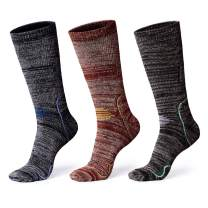 Hiking Socks, Anyou Men & Women Moisture Wicking Cushion Crew Socks for Trekking & Outdoor Sports