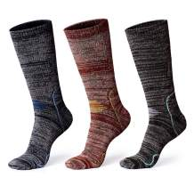 Hiking Socks, Anyou Men & Women Moisture Wicking Cushion Crew Socks for Trekking & Outdoor Sports