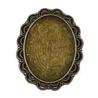 Bezel Pendant Trays Oval Cabochon Settings Trays Pendant Blanks for Jewelry Making 10Pcs #2