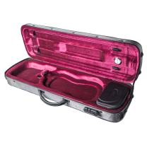 Paititi 5001L Stylus Full Size Violin Case Grey with Combination Lock Removable Pouch and Multiple Bow Holders
