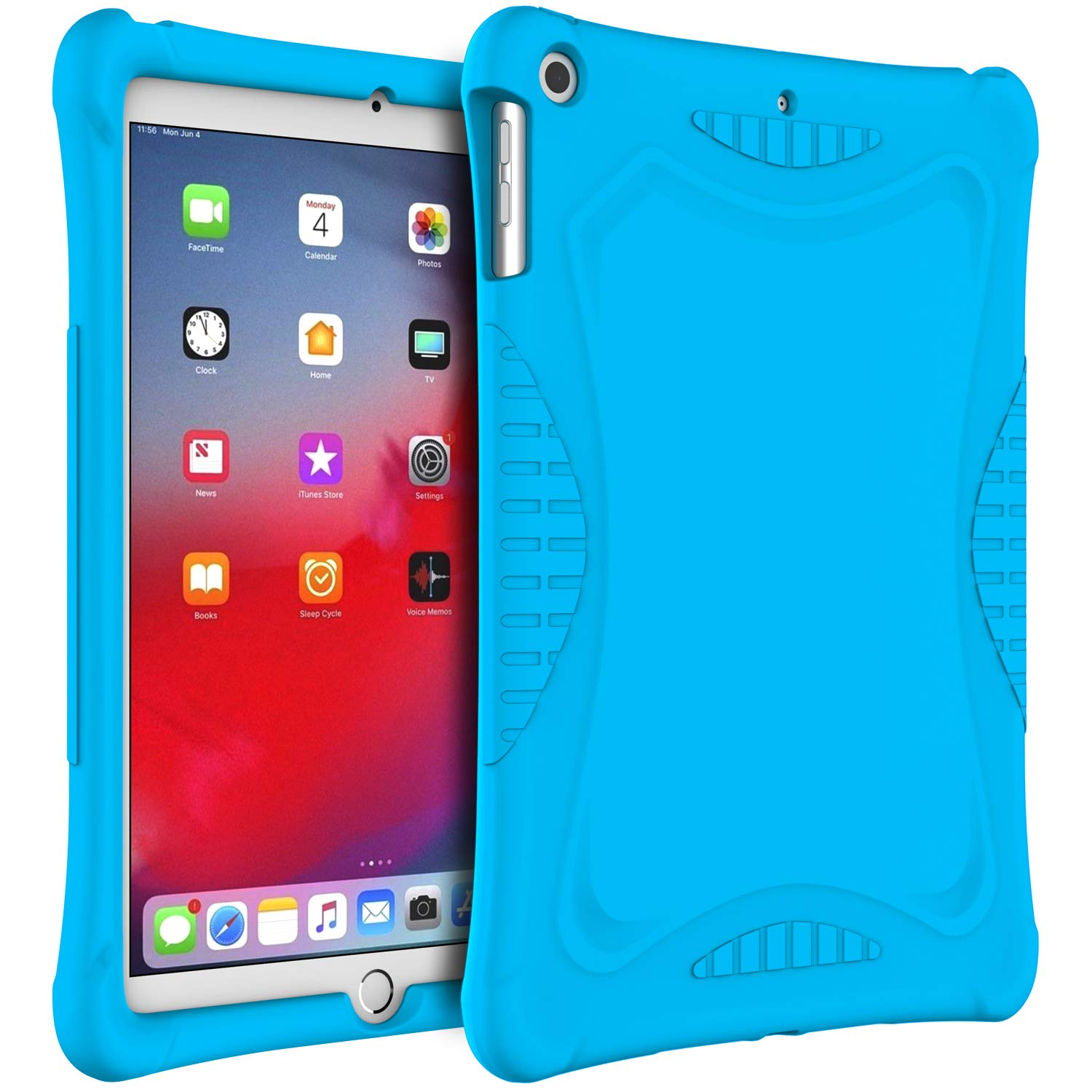 JETech Case for iPad 9.7-inch (2018/2017 Model, 6th/5th Generation), Anti Slip Design Kids-Friendly, Shockproof Soft Silicone Protective Cover, Blue
