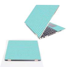 """Mightyskins Skin Compatible with Hp Spectre X360 15.6"""" (2018) - Turquoise Chevron   Protective, Durable, and Unique Vinyl Decal Wrap Cover   Easy to Apply, Remove, and Change Styles   Made in The USA"""