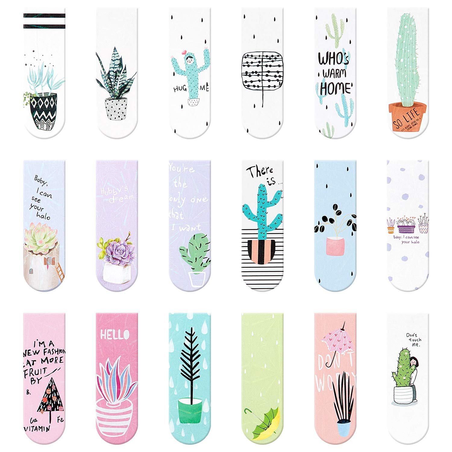 18 Pieces Magnet Magnetic Bookmarks Cute Magnet Page Markers Page Clips Bookmark for Student Office Reading Stationery