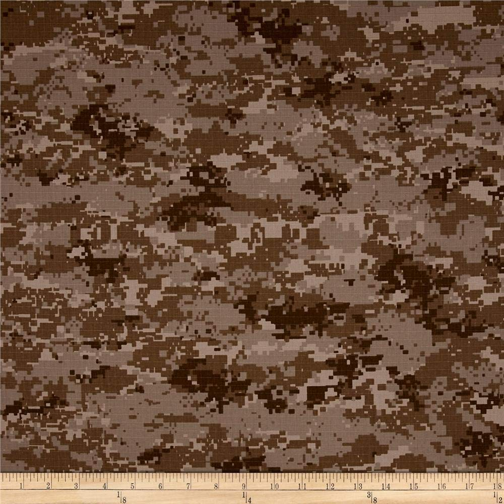 Carr Textile Organic Cotton Ripstop Desert Camo Fabric By The Yard