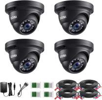 ZOSI 4 Pack 1080P 2.0MP 1920TVL HD-TVI Security Cameras Outdoor Indoor Surveillance Camera for 720P/1080N/1080P/5MP Lite/5MP/8MP 4K HD-TVI AHD CVI Analog CCTV DVR Systems (Renewed)