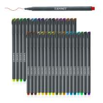 TANMIT Fineliner Bullet Journal Set Tip Drawing Pens Porous Fine Point Makers for for Adult Coloring Books Writing Noting Calendar Marking Art Project 36