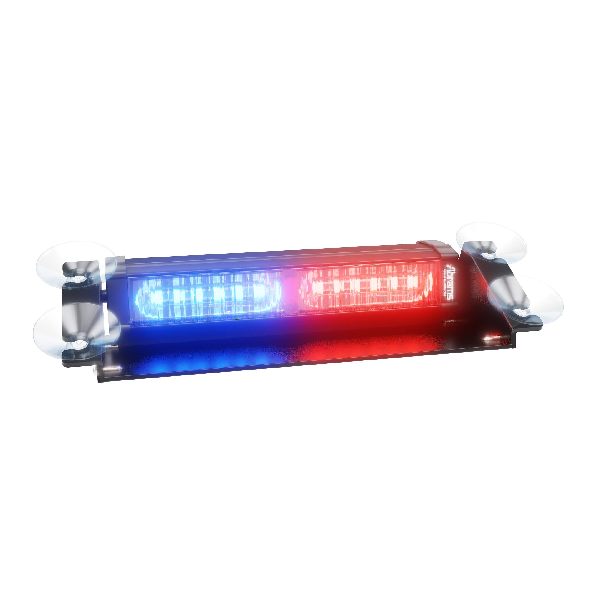 Abrams Focus 2X Series (Red/Blue) 36W - 12 LED Police Vehicle Truck Windshield Strobe Warning Dash & Deck Light Bar