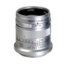KIPON IBERIT 50mm F2.4 Full Frame Lenses for Leica SL Mirrorless Camera (Silver)
