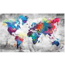 ANMUXI 5D Diamond Painting Kits Full Square Drills 50X25CM World Map Grey Landscape Paint with Diamonds Art for Stress-Relief & Home Decor