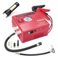 2000A Peak Car Jump Starter with Air Compressor, 120PSI Tire Inflator with Digital Screen Pressure Gauge, 20000mAh 12V Auto Battery Booster (8.0L Gas/ 5.5LDiesel Engine), 2 USB Port 2 Light
