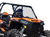 SuperATV Heavy Duty Light Tint Scratch Resistant Full Windshield for Polaris RZR 900/900 S / 900 4 (2015+) - Installs in 5 Minutes!