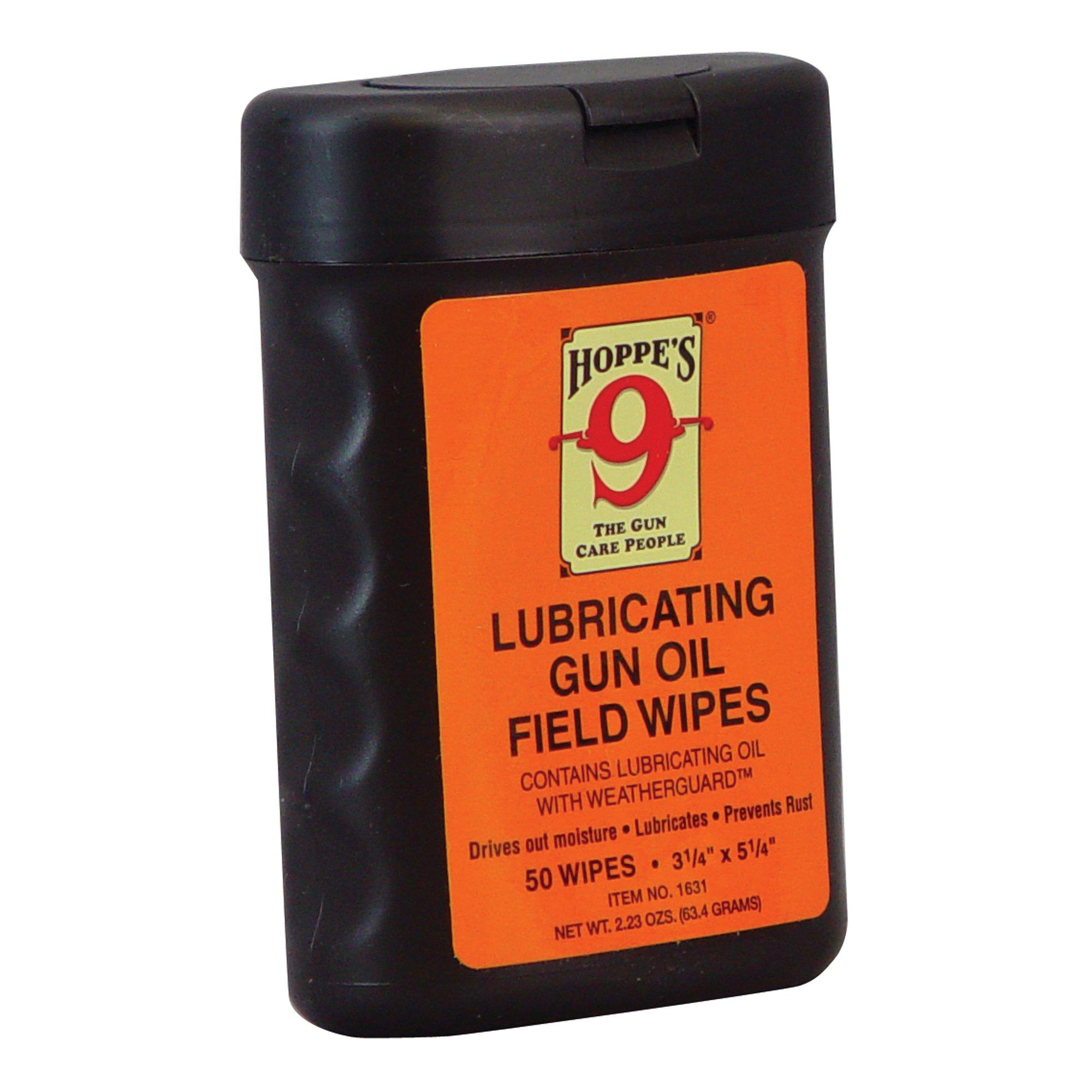 Hoppe's No. 9 Lubricating Gun Oil Field Wipes