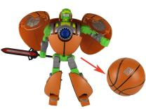 HAPTIME 8.6 inch Basketball Man Action Figure Big Creative Cool Transformer Toy Educational Fun Warrior Helping Develop Hand-Eye Coordination Great as Christmas Birthday Gift for Kids Children Boy