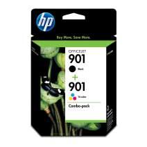 HP 901 | 2 Ink Cartridges | Black, Tri-Color | CC653AN, CC656AN (CN069FN)