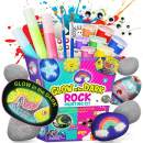 XXTOYS Rock Painting Kit for Kids - Arts and Crafts for Girls & Boys - Glow in The Dark Rock Painting - Craft Art Kit -Hide and Seek Activities, Great Craft Creative Gift for Ages 6-12