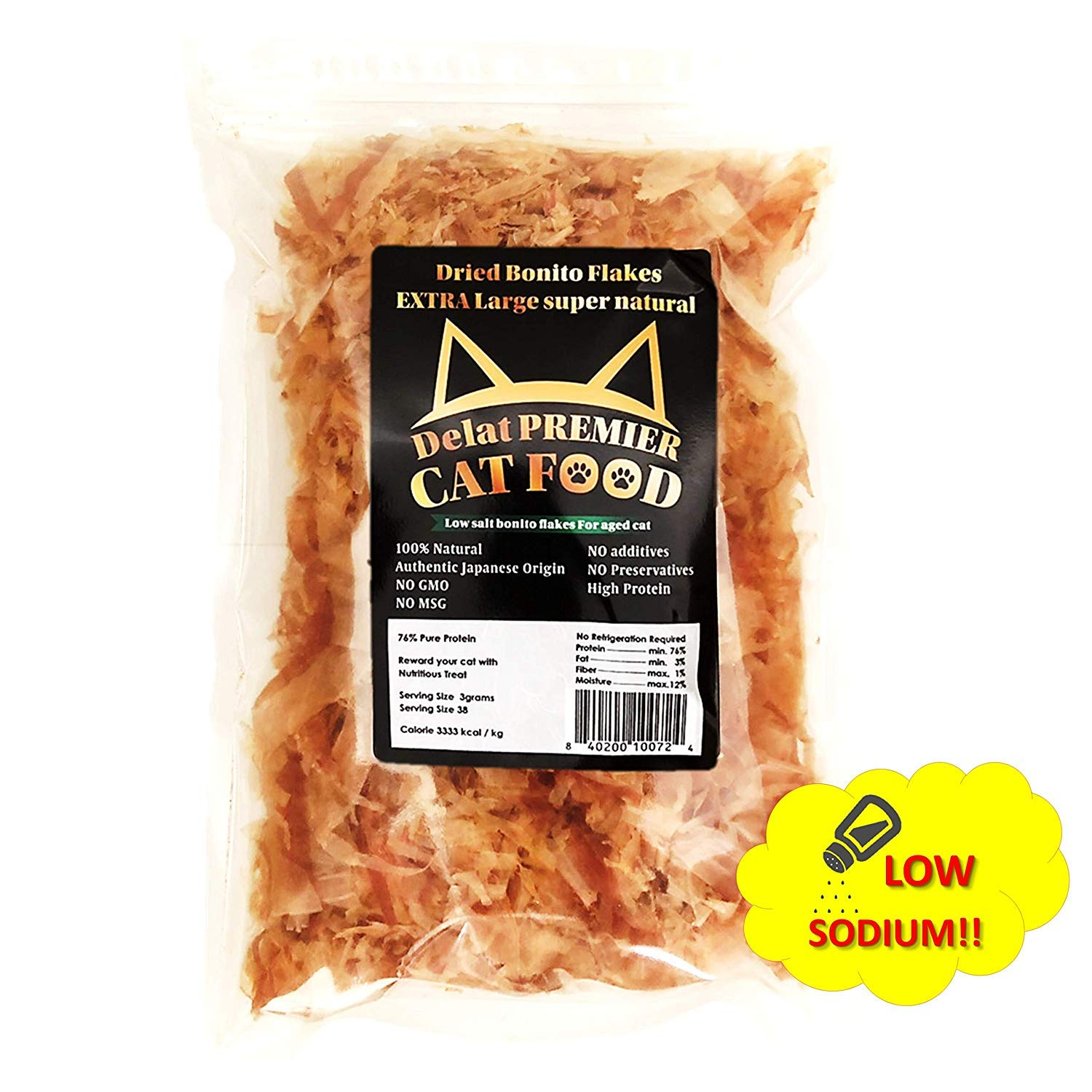 Delat Premier Bonito Flakes Cat Treat, 3.72 oz