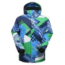 GSOU SNOW Men's Windprooof Winter Hooded Ski Jacket Outdoor Insulated Coat