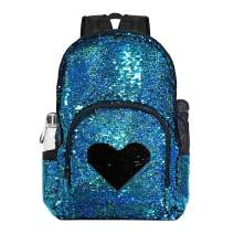 Sequin Backpacks & Lunch Box for Girls Kids Teens Women, Kid's Backpacks,Elementary Book Bag