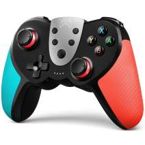 TERIOS Wireless Pro Controller for Switch/Switch Lite – Premium Joypad for Video Games – 3 Levels of Turbo Speed – NFC Technology–Adjustable Vibration Intensity (Blue & Red)