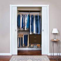 "Organized Living freedomRail Adjustable Closet Organizer Kit, 48""- 52"",Chocolate Pear"