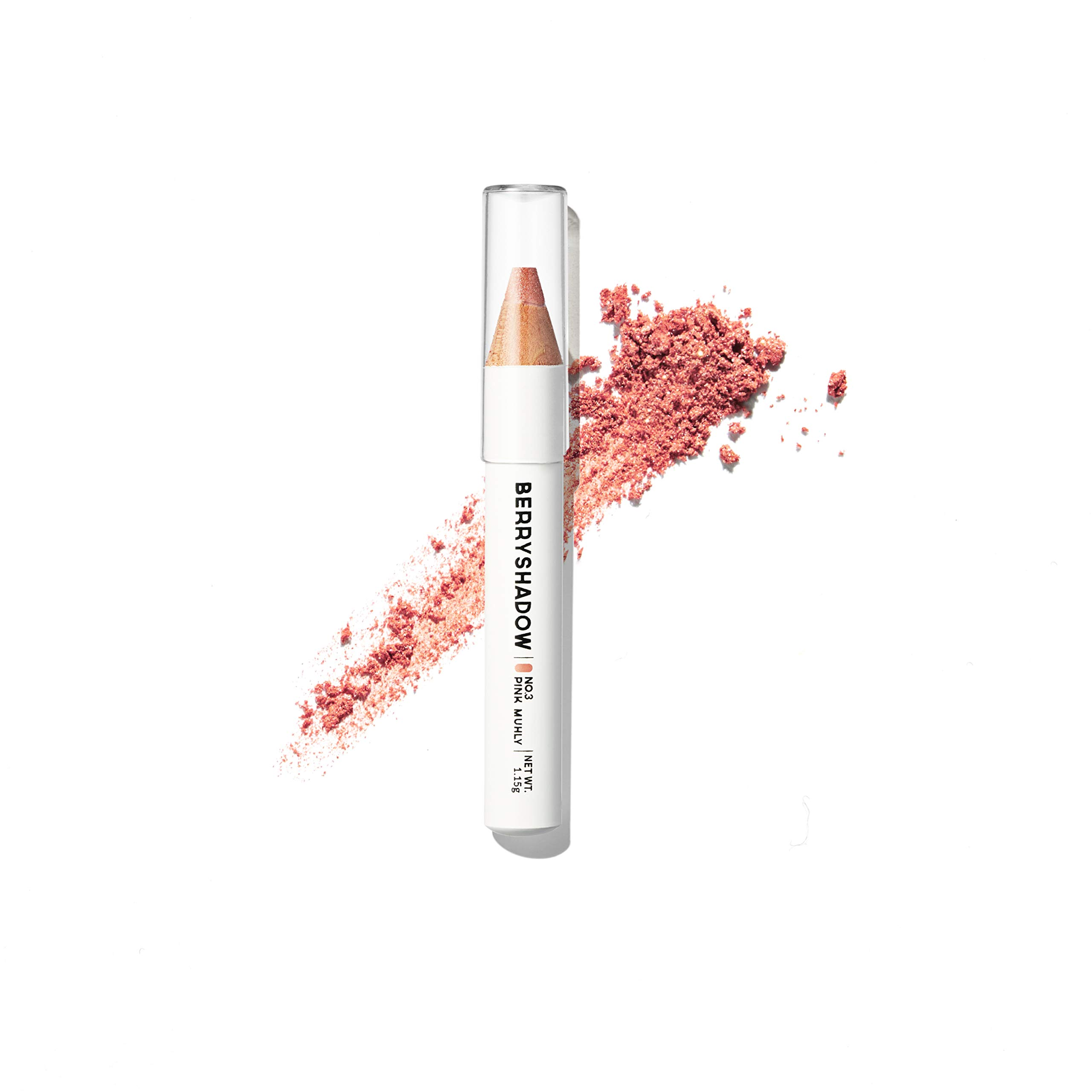Piciberry Berryshadow(Pink Muhly), shinny and bright soft pearl powder pencil eyeshadow, shimmer, glitter, highlighter, long lasting formula
