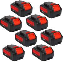 8-Pack 20V 6.0Ah DCB205 Premium Battery for DeWalt 20Volt Battery Lithium Ion MAX XR DCB204 DCB205 DCB206 DCB205-2 DCB200 DCB180 DCD985B DCD771C2 DCS355D1 DCD790B