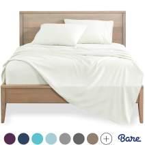 Bare Home Split King Sheet Set - 1800 Ultra-Soft Microfiber Bed Sheets - Double Brushed Breathable Bedding - Hypoallergenic – Wrinkle Resistant - Deep Pocket (Split King, Warm White)