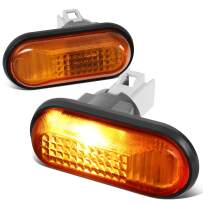 Pair of Amber Lens Front Fender Side Marker Light Lamps Replacement for Civic S2000 AP1 AP2 92-09