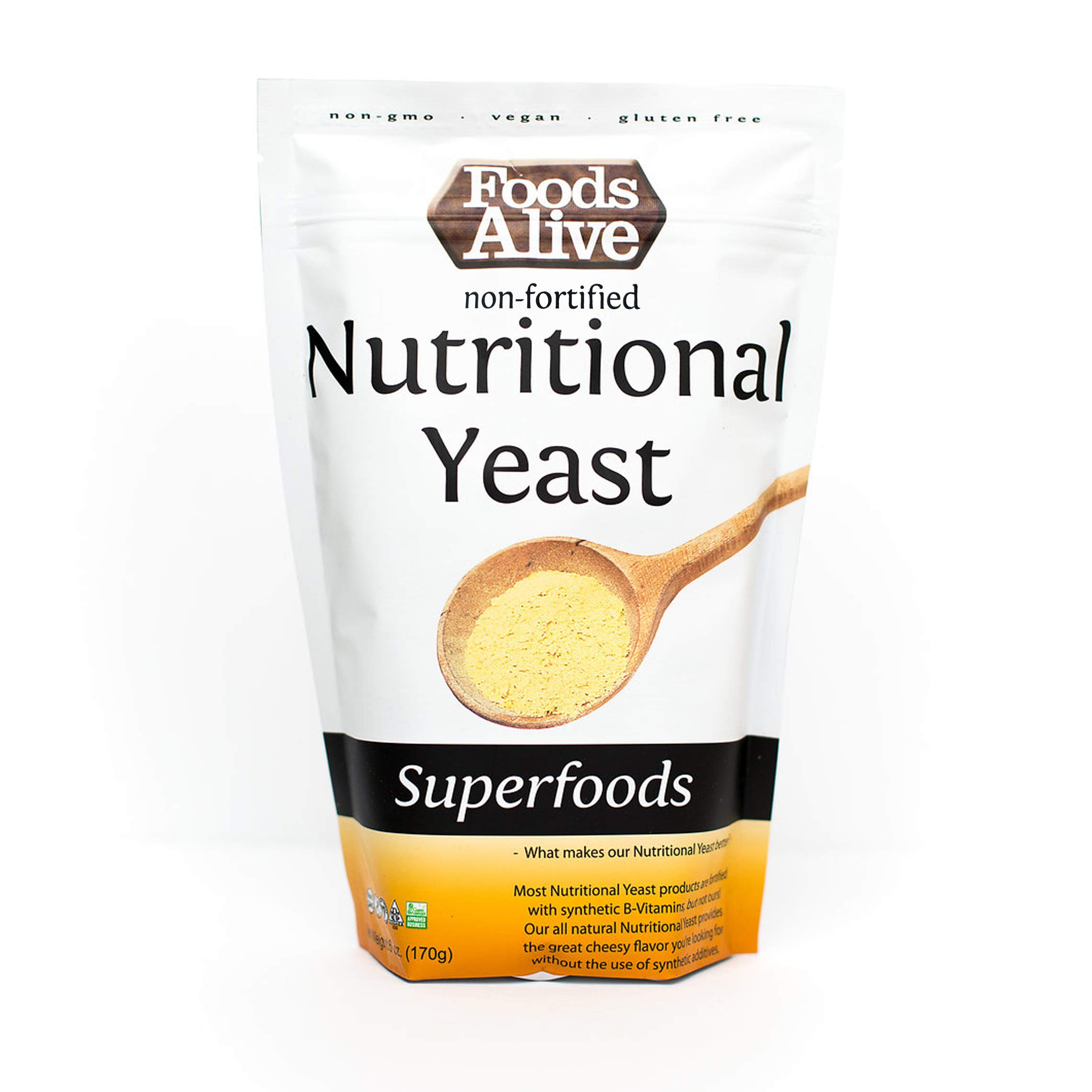 Nutritional Yeast Flakes   Non-Fortified, Plant Based Protein, Vegan Cheese Powder Substitute, 6oz (2-Pack)