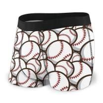 AHOOCUSTOM Men's Boxer Brief Baseball Soft Breathable Comfortable Stretch Underwear