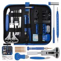 208 PCS Watch Repair Tool Kit, SOONAN Professional Watch Opening Tool Upgraded Version Watch Link Remover Kit Watch Battery Replacement Kit Adjustment Repair Tools Kits with Carrying Case & Manual …