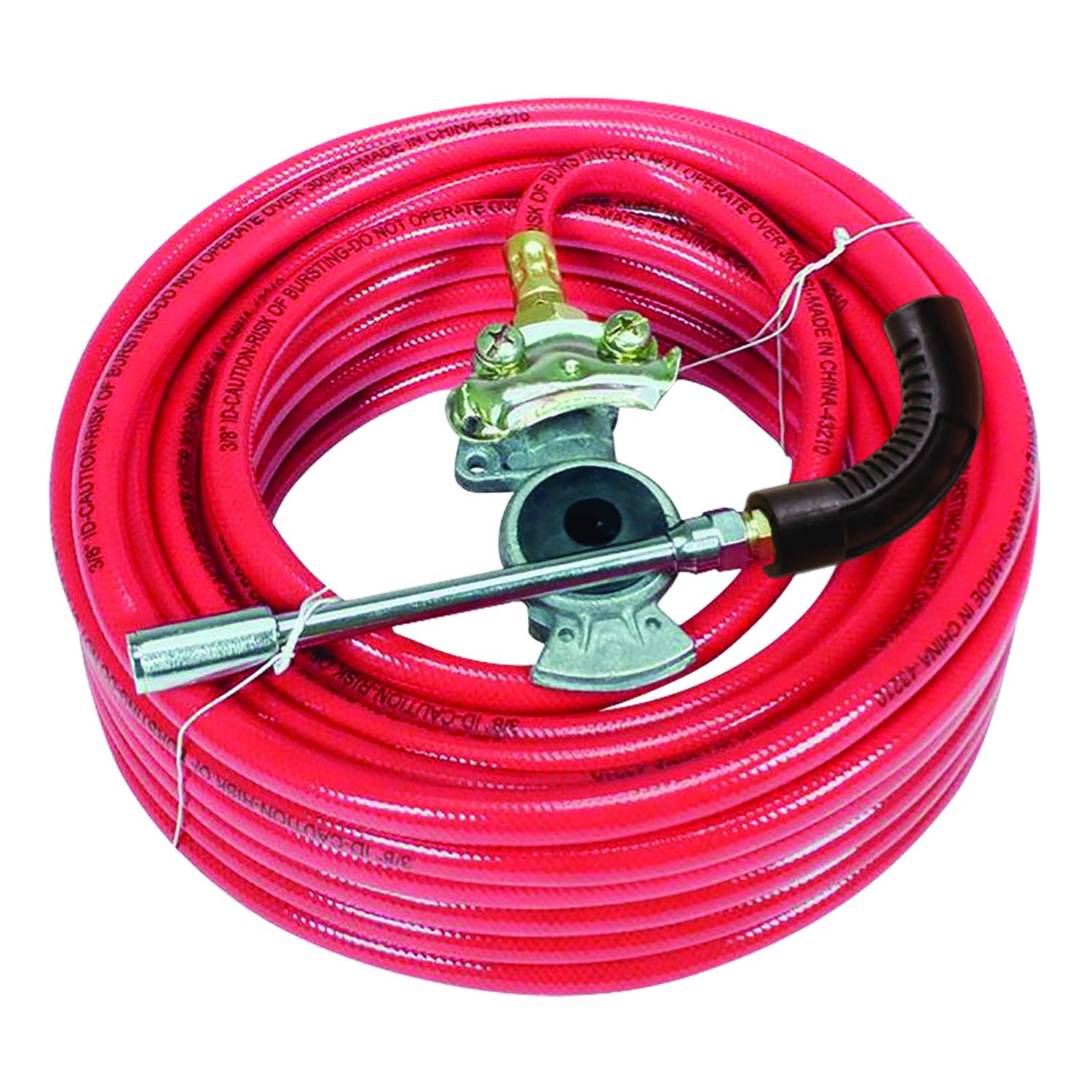 Amflo 574-50gh Heavy Duty Truck Inflator Kit for Air Brake Equipped Trucks Includes 3/8'' x 50' 300 PSI PVC Air Hose, Glad Hand, and Dual Foot Chuck