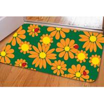 Bathroom Sunflower Rug Non Slip Welcome Mat for Entry Patio Indoor Outdoor Decoration Doormat