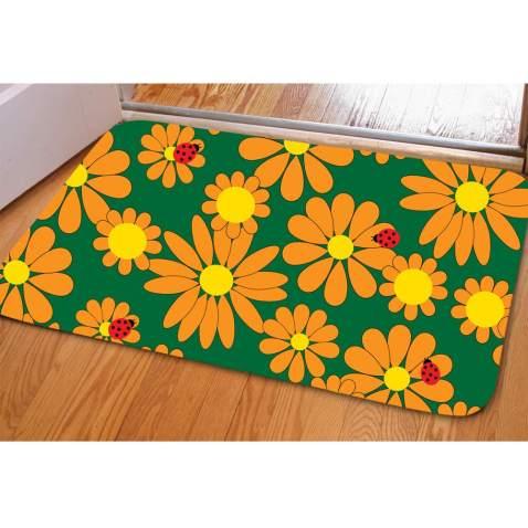 Bathroom Sunflower Rug Non Slip Welcome Mat for Entry Patio Indoor Outdoor Decoration Doormat
