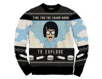 Ripple Junction Bob's Burgers Charm Bomb Knit Adult Ugly Sweater