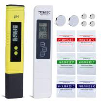0.01 Resolution High Accuracy PH Meter,TDS Meter,EC and Temperature Test Meter 4 in 1 Set for Household Water,Pool and Aquarium Swimming,PH and TDS Meter Combo