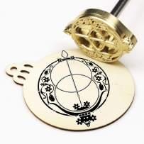 "Custom Logo Wood Branding Iron,Durable Leather Branding Iron Stamp,BBQ Heat Stamp Including The Handle (1""x1"")"