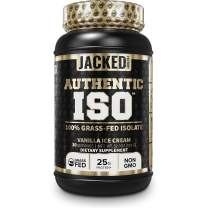 Authentic ISO 100% Grass Fed Muscle Building Whey Protein Isolate Powder - Low Carb, Grass-Fed, Non-GMO, No Fillers, Mixes Perfectly for Post Workout Recovery, Vanilla Ice Cream Flavor - 30 SV…