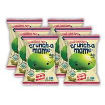 Crunch-a-Mame Organic Edamame Puffs - Savory Seasoned Nearly Naked (Vegan Friendly) - 3.5oz Bags (Box of 6)