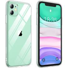 Vapesoon Compatible with iPhone 11 Case, Crystal Clear TPU+Hard PC Protective Slim Shockproof Case Cover for iPhone 11 (6.1Inch) (Clear)