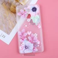 Cocomii 3D Flower Translucent Xiaomi Redmi 4 Prime/4 Pro Case, Slim Thin Matte Soft TPU Silicone Rubber Gel 3D Relief Silicone Floral Bumper Cover for Xiaomi Redmi 4 Prime/4 Pro (Watercolor Flowers)