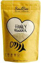 Soul Bee CRYSTALLIZED HONEY - Natural Sweetener Low in Calories - Non-GMO, Gluten Free, Dairy Free, Kosher - Superfood Powder