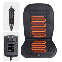 KINGLETING Heated Seat Cushion with Pressure-Sensitive Switch,for Car,Truck,Office Chair(12Volt,Black)