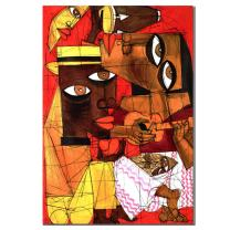 Jammin by Master's Art, 18x24-Inch Canvas Wall Art