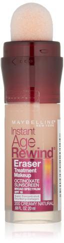 Maybelline New York Instant Age Rewind Eraser Treatment Makeup, Creamy Natural, 0.68 fl. oz.