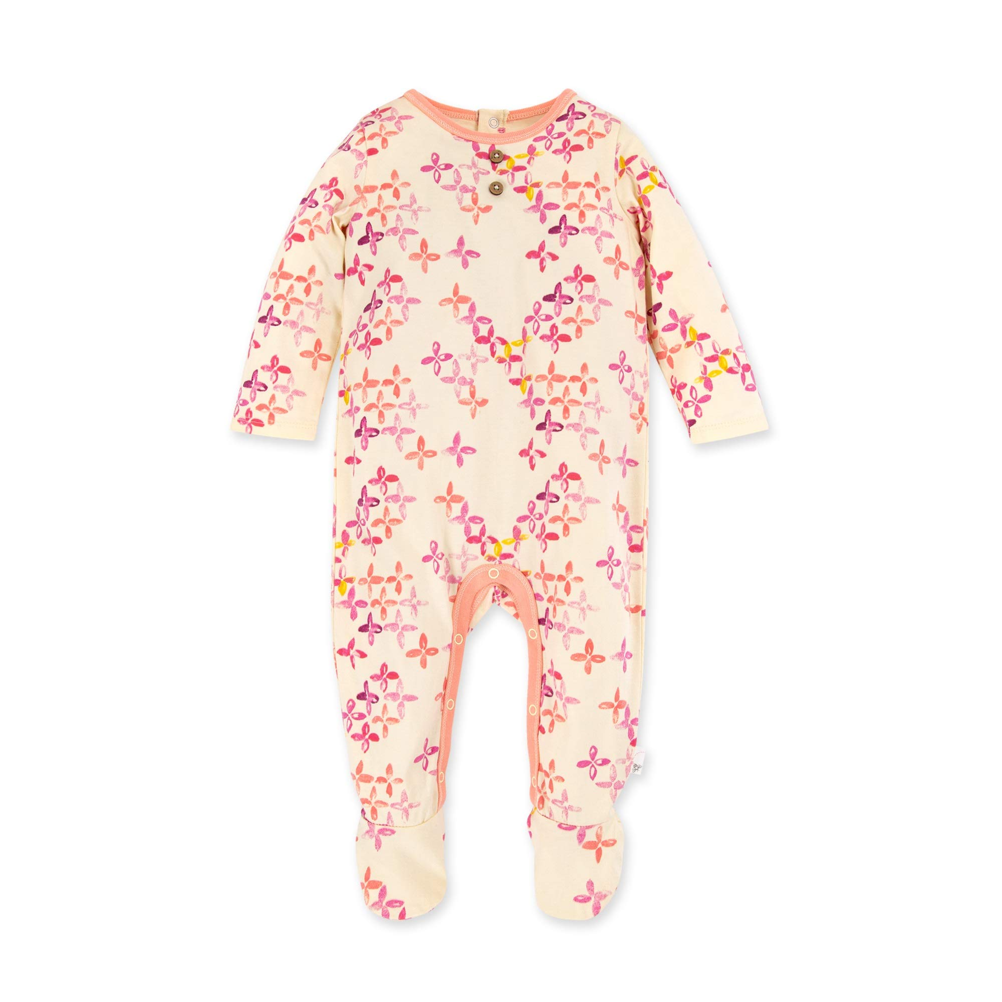 Burt's Bees Baby Baby Girls' Romper Jumpsuit, 100% Organic Cotton One-Piece Coverall