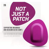 NOT JUST A PATCH – G5 G4 Dex-com CGM Adhesive Patch – Libre Sensor Patches – Miao-Miao Freestyle Adhesive Patches – Hypoallergenic Waterproof Adhesive – 20 Pack CGM Patches for Diabetic – Purple