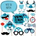 Big Dot of Happiness Yeti to Party - Abominable Snowman Party or Birthday Party Photo Booth Props Kit - 20 Count